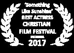 2017 Something Like Sunshine Best Actress White Laurels CFF